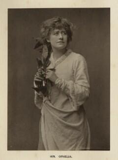 Ellen Terry as Ophelia in 'Hamlet', by Window & Grove - NPG Ax131301