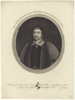 Christopher Packe, by James Basire - NPG D29013
