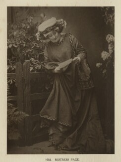 Ellen Terry as Mistress Page in 'The Merry Wives of Windsor', by Window & Grove - NPG Ax131327