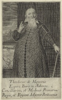 Sir Theodore Turquet de Mayerne, after François Diodati - NPG D29016
