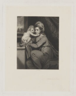 Frances Susan Elizabeth ('Anne') (née Wandesford), Countess of Ormonde and child, by James Scott, possibly after  Sir Joshua Reynolds - NPG D32502