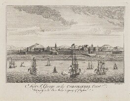 Fort St. George on the Coromandel Coast, by W. Proud, after  Unknown artist - NPG D9166