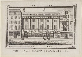 View of the East India House, by Anker Smith, after  Unknown artist - NPG D9167