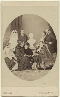 Queen Victoria with her family, by John Jabez Edwin Mayall - NPG Ax131299
