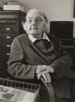 Bertha (née Swirles), Lady Jeffreys, by Julia Hedgecoe - NPG P751(12)