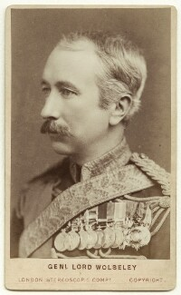 Garnet Joseph Wolseley, 1st Viscount Wolseley, by London Stereoscopic & Photographic Company - NPG x24406