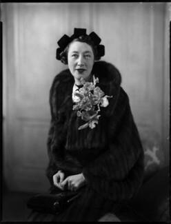 Gladys (née Hardy), Lady Garthwaite, by Bassano Ltd - NPG x152582