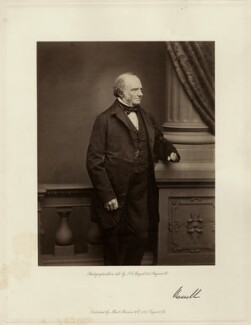 John Russell, 1st Earl Russell, by John Jabez Edwin Mayall, published by  A. Marion & Co - NPG x15138
