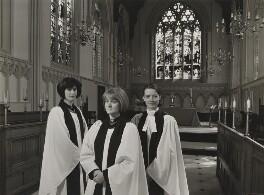 Joanne Caladine Bailey Wells; Georgina Ann Byrne; Emma Siân Hebblethwaite (née Disley), by Julia Hedgecoe - NPG P751(20)