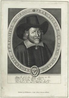 Francis Rous, after William Faithorne, published by  William Richardson - NPG D29095