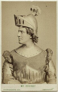 William Wybert Rousby as Étienne de Vignolles in 'Joan of Arc', by London Stereoscopic & Photographic Company - NPG Ax28515