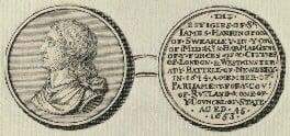 James Harrington (Sir James Harrington, 3rd Bt), by George Vertue, after  Thomas Simon - NPG D29113