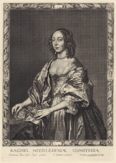 Rachael Cranfield (née Fane), Countess of Middlesex, by Pierre Lombart, after  Sir Anthony van Dyck - NPG D29174