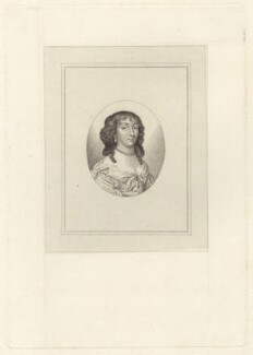 Elizabeth Claypole (née Cromwell), published by George Smeeton, after  John Hoskins - NPG D29179