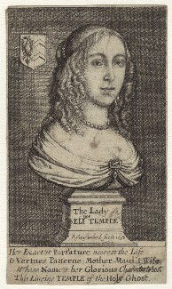 Eleanor (née Tyrrell), Lady Temple, by Richard Gaywood, published 1658 - NPG D29189 - © National Portrait Gallery, London