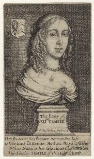 Eleanor (née Tyrrell), Lady Temple, by Richard Gaywood - NPG D29189
