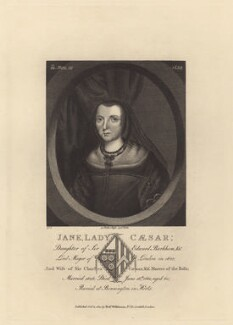 Jane Caesar (née Barkham), Lady Caesar, published by Robert Wilkinson - NPG D29204