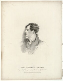 Lord Byron, by Henry Meyer, published by  T. Cadell & W. Davies, after  George Henry Harlow - NPG D32518