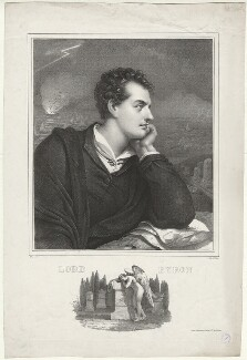 Lord Byron, by Nicolas Eustache Maurin, after  Richard Westall - NPG D32520