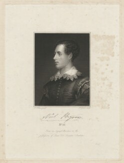 Lord Byron, by Robert Graves, after  James Holmes - NPG D32522