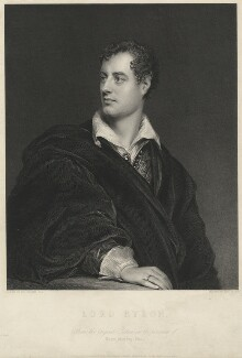 Lord Byron, by Robert Graves, after  Thomas Phillips - NPG D32523