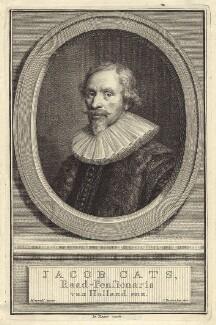Jacob Cats, by Jacobus Houbraken, after  Michiel Jansz. van Miereveldt - NPG D29236