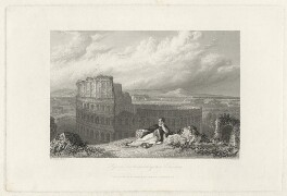 Lord Byron ['Byron contemplating the Coliseum (Colosseum)'], by James Tilbitts Willmore, after  William Westall - NPG D32524