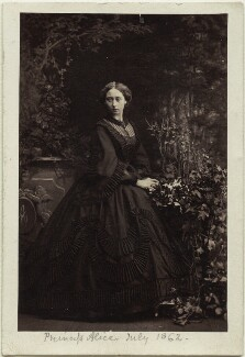 Princess Alice, Grand Duchess of Hesse, by Camille Silvy - NPG Ax131393