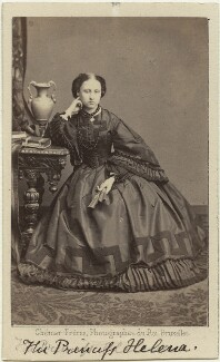 Princess Helena Augusta Victoria of Schleswig-Holstein, by Ghémar Frères, published by  A. Marion, Son & Co - NPG Ax131379