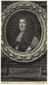 King Charles II, by George Vertue, after  Sir Peter Lely - NPG D29256