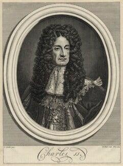 King Charles II, by Bernard Picart (Picard), after  Sir Godfrey Kneller, Bt - NPG D29257
