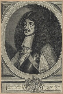 King Charles II, by John Chantry, published by  Peter Stent, after  William Faithorne - NPG D29258