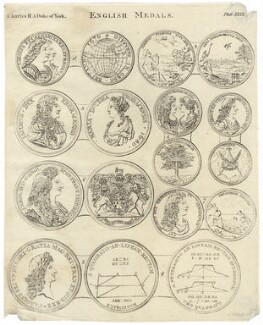 English Medals including King Charles II, Catherine of Braganza and King James II, by Charles Hall - NPG D29266