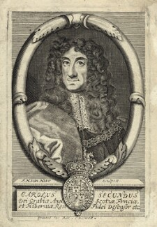 King Charles II, by Frederick Hendrik van Hove, after  Sir Godfrey Kneller, Bt, published by  Richard Chiswell - NPG D29268