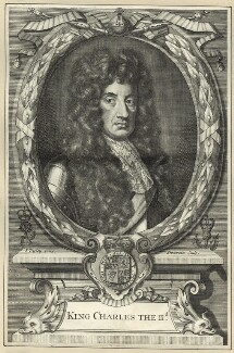 King Charles II, by Antoine Trouvain, after  John Riley - NPG D29276