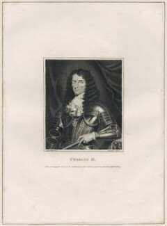 King Charles II, by Andrew Birrell, after  Silvester (Sylvester) Harding - NPG D29279