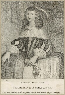 Catherine of Braganza, by Ignatius Joseph van den Berghe, published by  E. & S. Harding - NPG D29292
