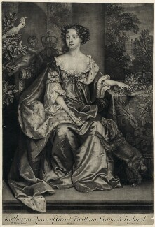 Catherine of Braganza, by John Smith, published by  Edward Cooper, after  Willem Wissing - NPG D29293
