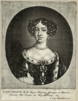 Catherine of Braganza, by Isaac Beckett, after  Sir Peter Lely - NPG D29296
