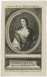 Catherine of Braganza, after Jacob Huysmans, published by  John Hinton - NPG D29302
