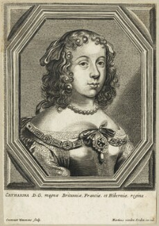 Catherine of Braganza, by Conrad Waumans (Woumans), published by  Maarten van den Enden - NPG D29305