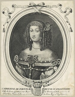 Catherine of Braganza, by Nicolas de Larmessin - NPG D29308