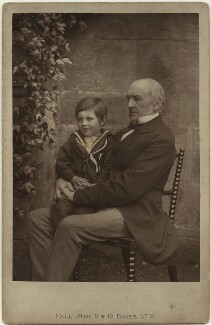 William Ewart Gladstone with his grandson, by Thomas Fall - NPG x22229