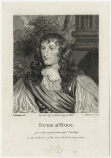 King James II, by William Nelson Gardiner, after  Sir Peter Lely, published by  E. & S. Harding - NPG D29309
