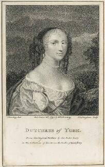 Anne Hyde, Duchess of York, by J.L. Claessens, after  Sir Peter Lely, published by  E. & S. Harding - NPG D29314