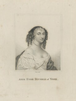 Anne Hyde, Duchess of York, by Rivers, after  Sir Peter Lely, published 1803 - NPG D29316 - © National Portrait Gallery, London