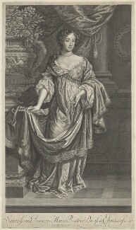 Mary of Modena, by Peter Vanderbank (Vandrebanc), after  Sir Peter Lely, published by  Moses Pitt, late 17th century - NPG D29318 - © National Portrait Gallery, London