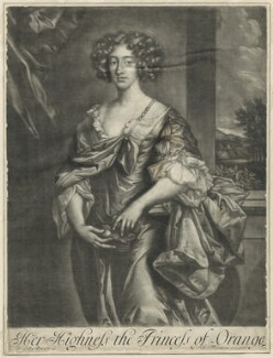 Queen Mary II, published by Richard Tompson, after  Sir Peter Lely - NPG D29324