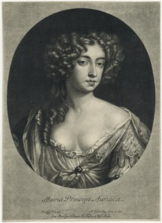 Queen Mary II, by Abraham Blooteling (Bloteling), after  Sir Peter Lely - NPG D29330