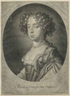 Queen Mary II, by Gerard Valck, after  Sir Peter Lely - NPG D29331